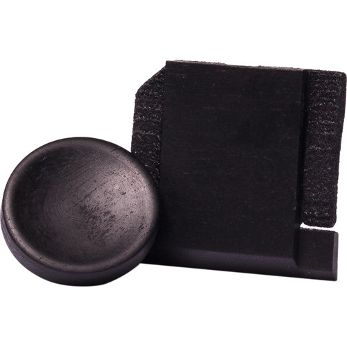 Artisan Obscura Soft Shutter Release & Hot Shoe Cover Set (Small, Concave, Sticky-Backed, Ebony)