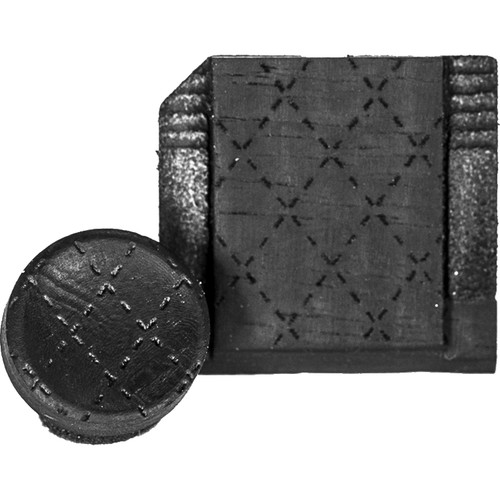 Artisan Obscura Soft Shutter Release & Hot Shoe Cover Set with Etched Argyle Design (Small Concave, Sticky-Backed, Ebony Wood)
