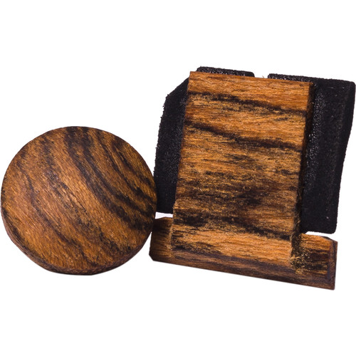 Artisan Obscura Soft Shutter Release & Hot Shoe Cover Set (Large Convex, Threaded, Bocote Wood)