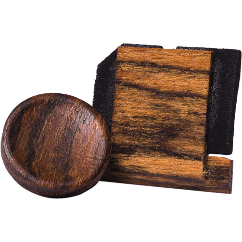 Artisan Obscura Soft Shutter Release & Hot Shoe Cover Set (Large Concave, Threaded, Bocote Wood)