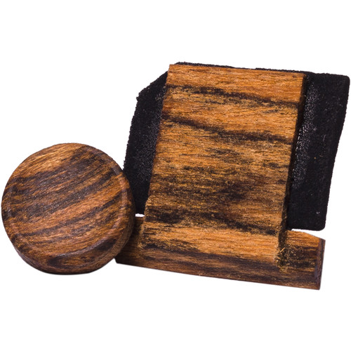 Artisan Obscura Soft Shutter Release & Hot Shoe Cover Set (Small Concave, Threaded, Bocote Wood)