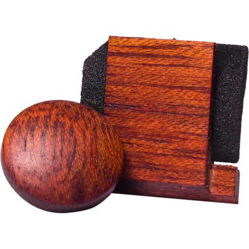Artisan Obscura Soft Shutter Release & Hot Shoe Cover Set (Large Convex, Threaded, Bloodwood)