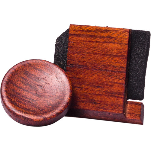 Artisan Obscura Soft Shutter Release & Hot Shoe Cover Set (Large Concave, Threaded, Bloodwood)