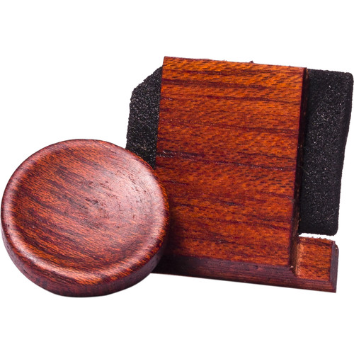 Artisan Obscura Soft Shutter Release & Hot Shoe Cover Set (Small Concave, Threaded, Bloodwood)