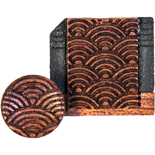 Artisan Obscura Soft Shutter Release & Hot Shoe Cover Set with Etched Empty Rainbows Design (Small Concave, Threaded, Bloodwood)