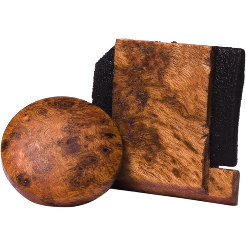Artisan Obscura Soft Shutter Release & Hot Shoe Cover Set (Large Convex, Threaded, Cherry Burl Wood)