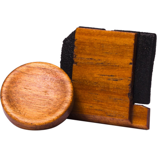 Artisan Obscura Soft Shutter Release & Hot Shoe Cover Set (Large Concave, Threaded, Chakte Viga Wood)