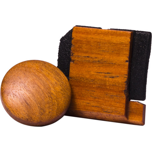 Artisan Obscura Soft Shutter Release & Hot Shoe Cover Set (Small Convex, Threaded, Chakte Viga Wood)