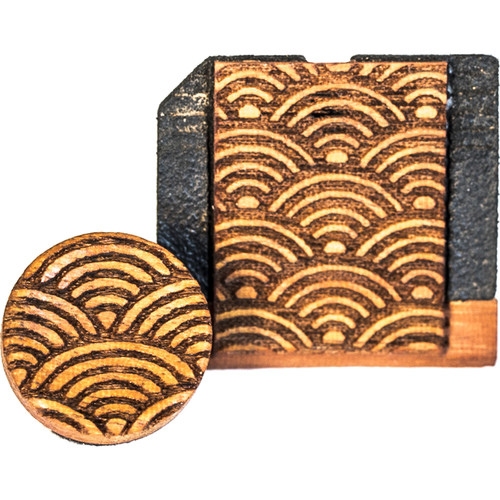 Artisan Obscura Soft Shutter Release & Hot Shoe Cover Set with Etched Empty Rainbows Design (Small Concave, Threaded, Chakte Viga Wood)