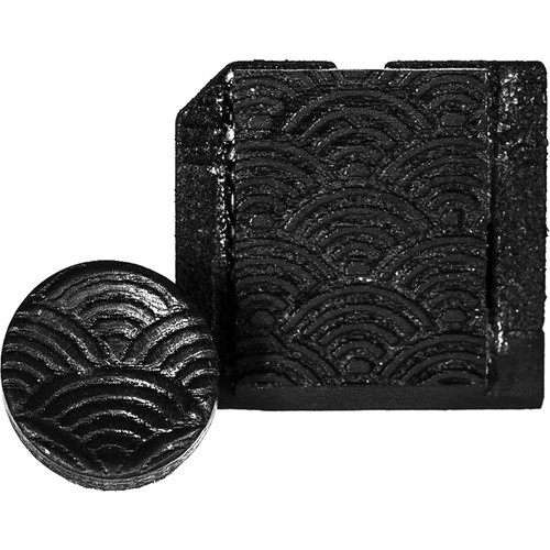 Artisan Obscura Soft Shutter Release & Hot Shoe Cover Set with Etched Empty Rainbows Design (Large Convex, Threaded, Ebony Wood)