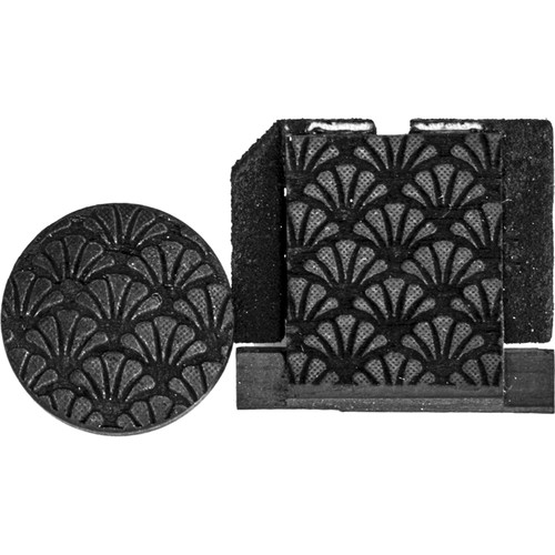 Artisan Obscura Soft Shutter Release & Hot Shoe Cover Set with Etched Southern Charm Design (Large Concave, Threaded, Ebony Wood)