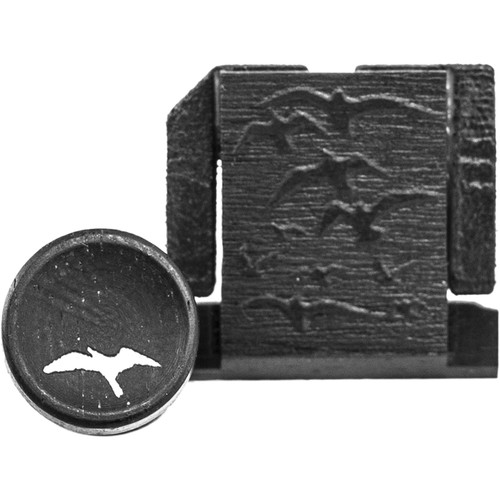 Artisan Obscura Soft Shutter Release & Hot Shoe Cover Set with Etched Flock of Birds Design (Small Convex, Threaded, Ebony Wood)