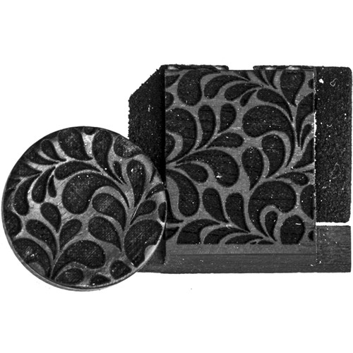 Artisan Obscura Soft Shutter Release & Hot Shoe Cover Set with Etched Leaves Design (Small Convex, Threaded, Ebony Wood)