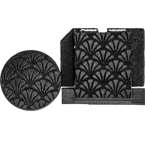 Artisan Obscura Soft Shutter Release & Hot Shoe Cover Set with Etched Southern Charm Design (Small Concave, Threaded, Ebony Wood)
