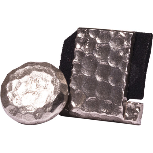 Artisan Obscura Soft Shutter Release & Hot Shoe Cover Set (Small Convex, Threaded, Hand-Hammered Silver)