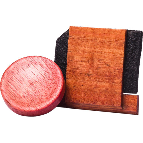 Artisan Obscura Soft Shutter Release & Hot Shoe Cover Set (Large Concave, Threaded, Ivorywood)
