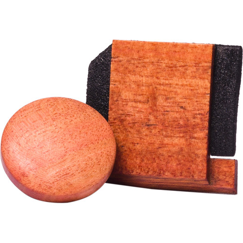 Artisan Obscura Soft Shutter Release & Hot Shoe Cover Set (Small Convex, Threaded, Ivorywood)