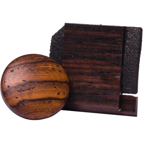 Artisan Obscura Soft Shutter Release & Hot Shoe Cover Set (Large Convex, Threaded, Teak Wood)