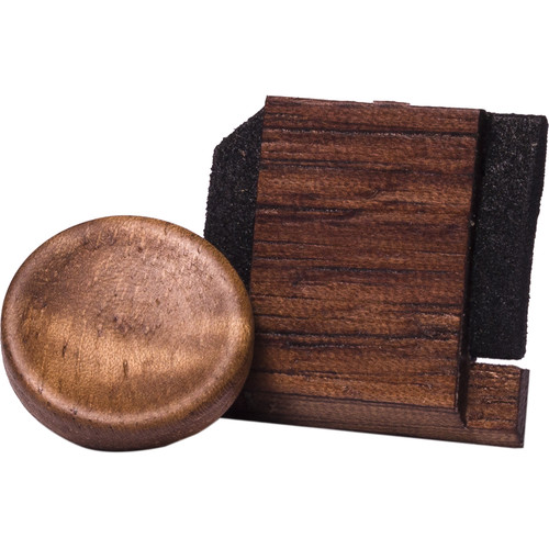 Artisan Obscura Soft Shutter Release & Hot Shoe Cover Set (Large Concave, Threaded, Walnut Wood)