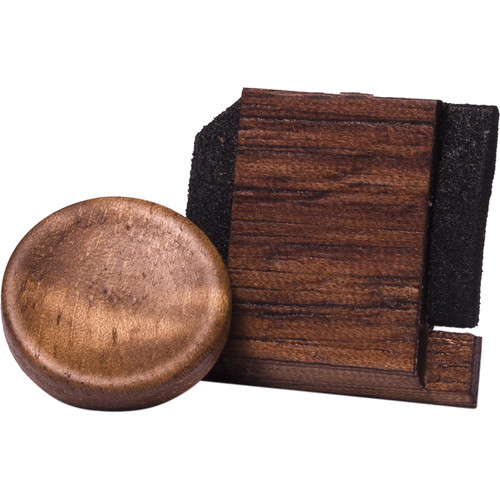 Artisan Obscura Soft Shutter Release & Hot Shoe Cover Set (Small Concave, Threaded, Walnut Wood)