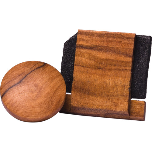 Artisan Obscura Soft Shutter Release & Hot Shoe Cover Set (Large Convex, Threaded, Wild Olive Wood)