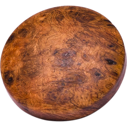 Artisan Obscura Soft Shutter Release Button (Large Convex, Threaded, Cherry Burl Wood)