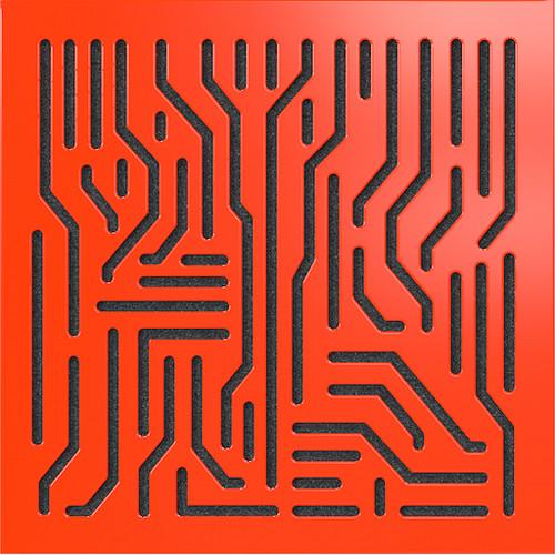 "ARTNOVION Azteka Lacquered Wood Acoustical Absorber Panel (23.4 x 23.4 x 2.3"", Rouge)"