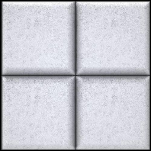 "ARTNOVION Belem Fabric Acoustical Absorption Panel (23.4 x 23.4 x 2.4"", Bianco)"