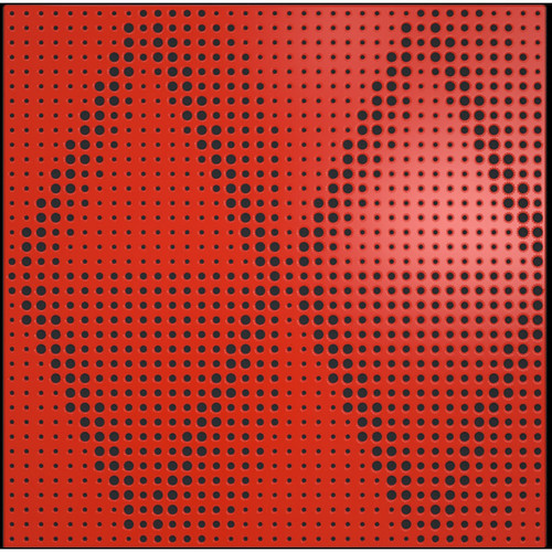 """ARTNOVION Petra Lacquered Wood Acoustical Absorber Panel (23.4 x 23.4 x 2.3"""", Rouge)"""