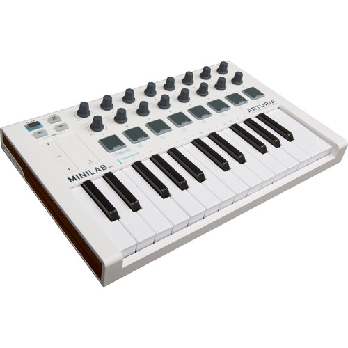 Arturia MiniLab Mk II Portable USB-MIDI Controller (White)