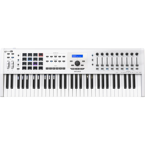 Arturia KeyLab MKII 61 - Professional MIDI Controller and Software (White)