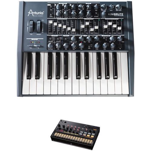 Arturia MiniBrute Analog Monophonic Synthesizer & Korg Volca Beats Analog Rhythm Machine Kit