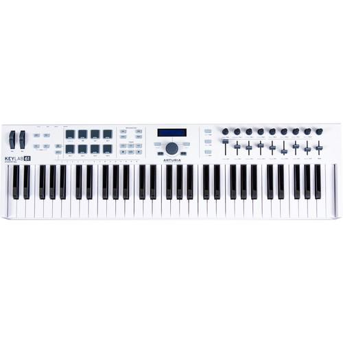 Arturia KeyLab Essential 61 - Universal MIDI Controller and Software (White)