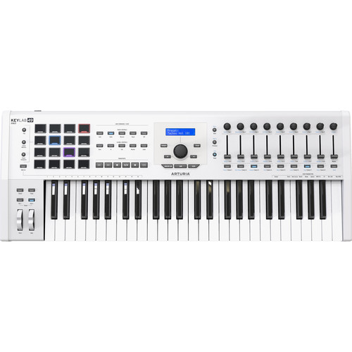 Arturia KeyLab MKII 49 - Professional MIDI Controller and Software (White)