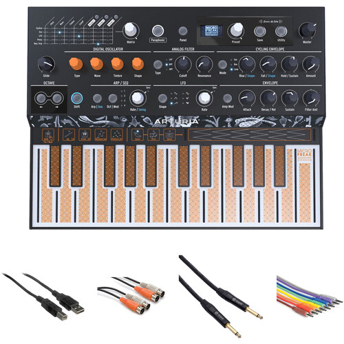 Arturia MicroFreak Hybrid Analog/Digital Synthesizer Kit with Cable Accessories
