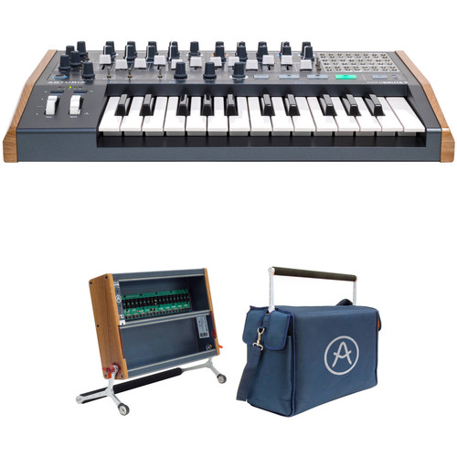 Arturia MiniBrute 2 Analog Synthesizer with RackBrute 6U and Travel Bag Kit