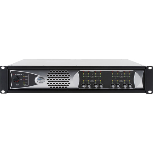Ashly 8-Channel 2000W Network-Enabled Power Amplifier with AES3, OPDante Cards, & Protea DSP Software Suite (70V)
