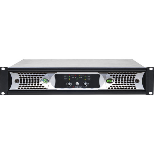 Ashly nX Series NX8002 2-Channel 800W Power Amplifier with Programmable Outputs