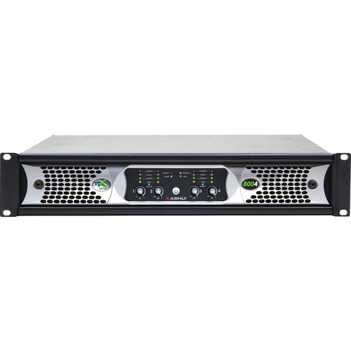 Ashly nX Series NX8004 4-Channel 800W Power Amplifier with Programmable Outputs