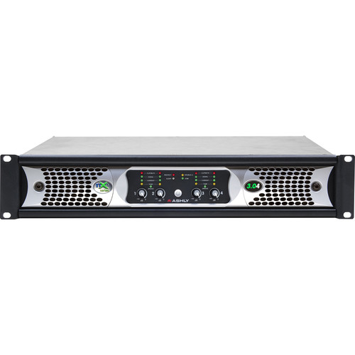 Ashly NXE Series 4-Channel Networkable Multi-Mode Power Amplifier with OPAES2, OPDAC4 & OPDante Cards (4 x 3000W)