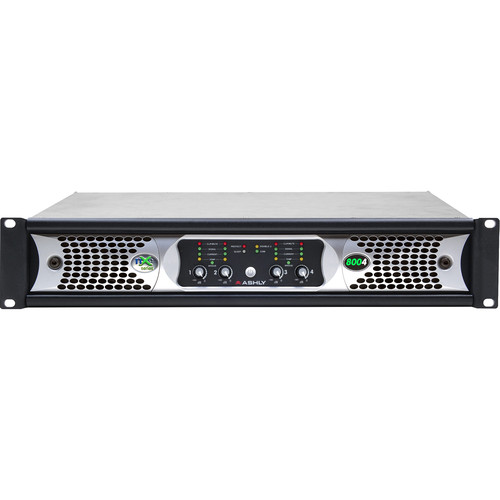 Ashly NXE Series 4-Channel Networkable Multi-Mode Power Amplifier with OPDAC4 & OPDante Cards