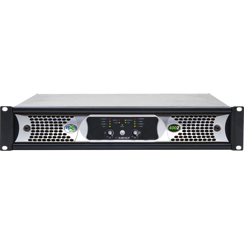Ashly nXe Series NXE4002 2-Channel 400W Power Amplifier with Programmable Outputs & Ethernet Control