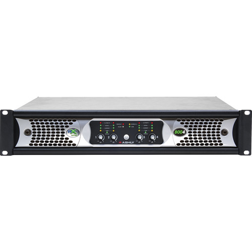 Ashly nXe Series NXE8004 4-Channel 800W Power Amplifier with Programmable Outputs & Ethernet Control