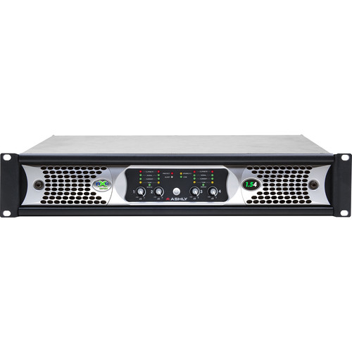 Ashly nXp1.5 4-Channel Multi-Mode Network Power Amplifier with Protea DSP Software Suite, AES3 Inputs, & CobraNet Digital Interface