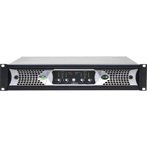 Ashly nXp3.0 4-Channel Multi-Mode Network Power Amplifier with Protea DSP Software Suite, AES3 Inputs, & CobraNet Digital Interface