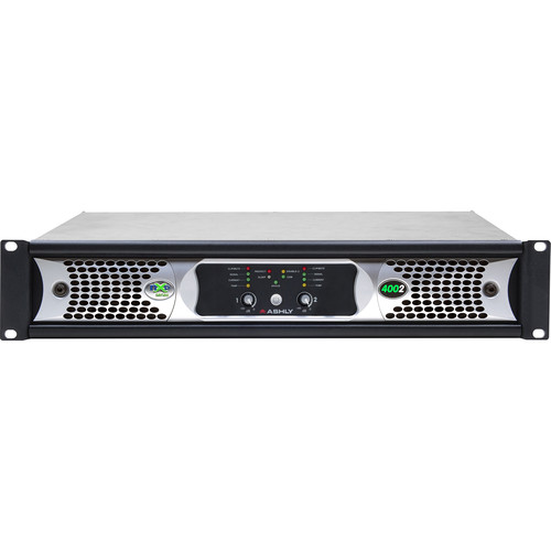Ashly nXp400 2-Channel Multi-Mode Network Power Amplifier with Protea DSP Software Suite, AES3 Inputs, & Dante Digital Interface