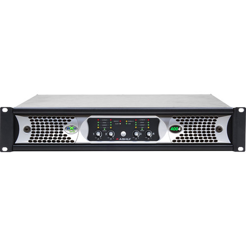 Ashly nXp400 4-Channel Multi-Mode Network Power Amplifier with Protea DSP Software Suite, AES3 Inputs, & CobraNet Digital Interface