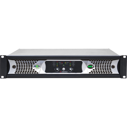 Ashly nXp800 2-Channel Multi-Mode Network Power Amplifier with Protea DSP Software Suite, AES3 Inputs, & CobraNet Digital Interface