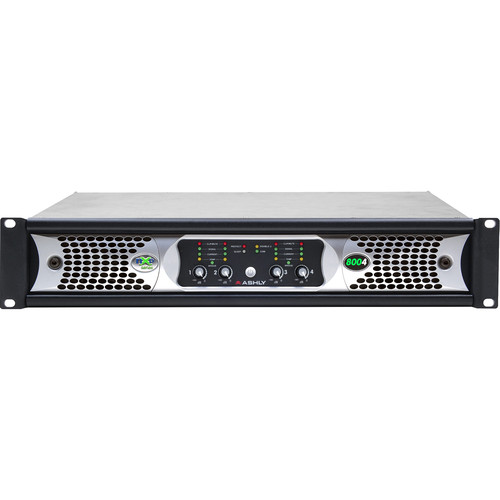 Ashly nXp800 4-Channel Multi-Mode Network Power Amplifier with Protea DSP Software Suite & AES3 Inputs
