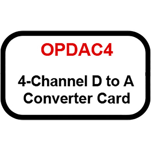 Ashly 4-Channel Digital to Analog Converter Card for Select DANTE and CobraNet Amplifiers